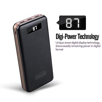 imuto batería Externa Ultra Alta Capacidad Power Banco de 3 Puertos USB Cargador Cargador de Viaje portátil Cargador Smartphone batería Pack