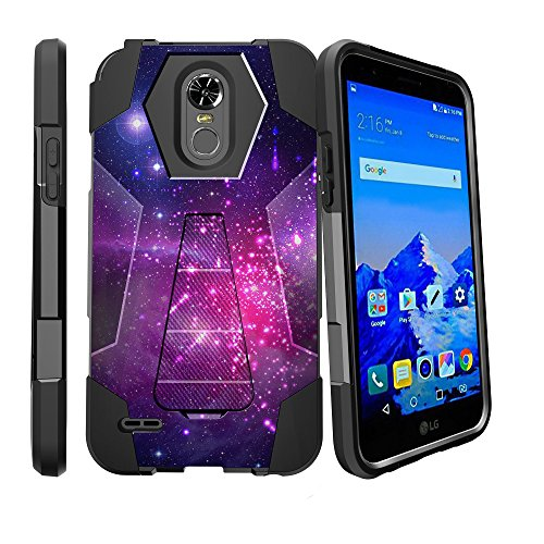 LG Stylo 3 Case, Stylo 3 Plus Case [SHOCK FUSION] High Impact Hybrid Dual Layer Case with [Stylo 3 Plus LG Case] Kickstand by Miniturtle - Heavenly - Heavenly At Shops