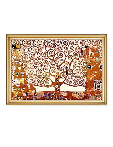 DECORARTS- The Tree of Life by Gustav Klimt. World Classic Art Giclee Print On Canvas. Matching with Art Frame. 16x24, Total Size w/Frame: 18.5x26.5
