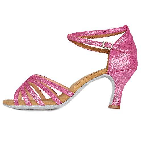 Model IT1810 da Donna SWDZM Ballo Rosa Tacco Ballroom Scarpe Latino Standard 7cm x8Zaqw0Ea
