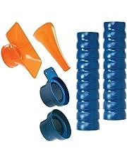 """Loc-Line 80813 Shop Vacuum Kit, 2.5"""", Blue/Orange"""