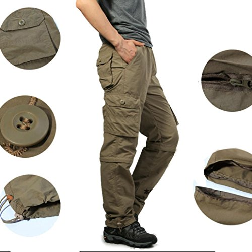 b2e415ed Greatgiftlist Mens Detachable Pants Convertible Shorts&Long Outdoor Cargo  Hiking Camping Sports Pants Military Trousers 50%