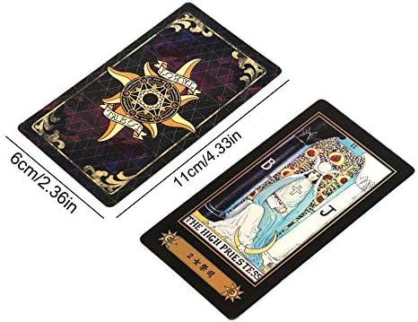 colinsa Mazzo di Carte dei Tarocchi Una tovaglia Divina Tarocchi Tarocchi divinit/à dei Tarocchi Waite Universali