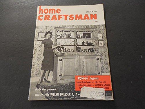 Home Craftsman Dec 1957 Welsh Dresser; Latest Power Tools; Fireplaces