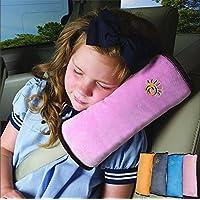 ultaplay (TM) universal Bay Asientos de cubierta para coche de almohada bebé arnés de hombro Cinturones de Seguridad los niños arnés Protección para Niños Cojín Apoyo Hot Sale, Rosado