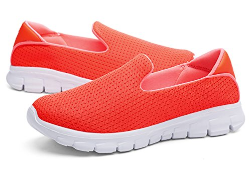 Running Fashionable Shoes Causual Orange Breathable WSKEISP Sneakers Chic Mesh 1qw5x447Z