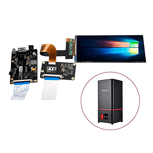 PinShang 3D Printer Accessories 5.5 inch LS055R1SX04 2K LCD Screen with Tempered Glass Protector Protective Film Assembly