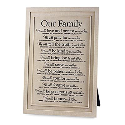Lighthouse Christian Products Our Family Framed Print Wall Plaque
