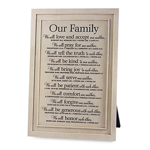 Lighthouse Christian Products Our Family Word Study Wall Desktop Plaque, 7 5 8 x 11 1 2