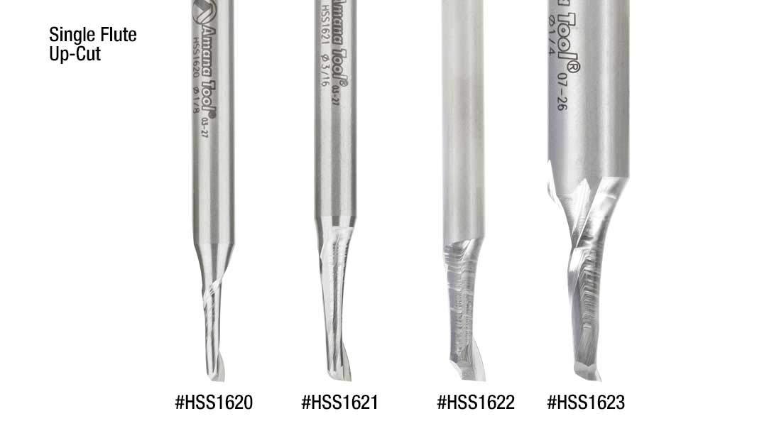 HSS1637 High Speed Steel Double Flute Spiral Aluminum Cutting 5//16 Dia HSS Amana Tool