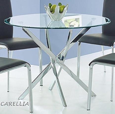 CARELLIA Tisch Hat Essen rund /Ø 100/cm Farbe Transparent