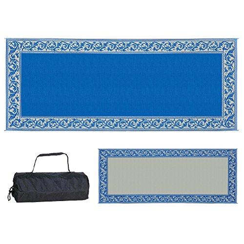 Ming's Mark RC3 Blue/Beige 8-Feet x 20-Feet Classical Mat