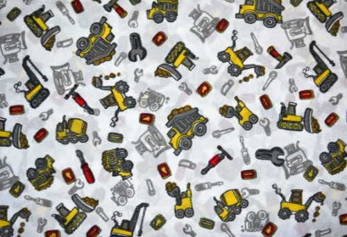 Sweet Dream Collection Construction Trucks TWIN Sheet Set 100% Polyester