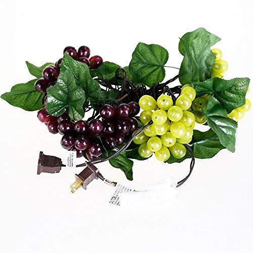 - LIDORE 100 LED Purple&Green Grape String Lights. Grapevine Lights with 10 Cluster-UL Listed