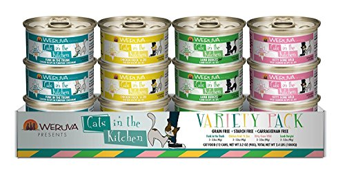 Weruva Cats in the Kitchen, Variety Pack Cat Food, 3.2oz Can