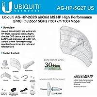 Ubiquiti AirGrid M5-HP 27dBi Grid Antenna 5GHz CPE 24vdc POE 300mW