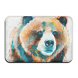Indoor Modern Watercolor Animal Bear Art Area Rug For Living Room Dining Room Bedroom Home Any Floor & Carpet Floor Mat Home Decor, 1.2 Feet By 1.8 Feet Carpet Round Area Rugs