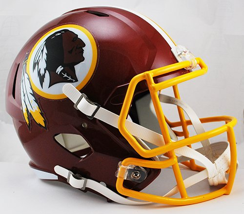 on Redskins Full Size Replica Speed Helmet, Medium, Red ()