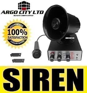 Sirena para Claxon Coche Sistema PA Novedad Sonidos Potentes Animales 12v