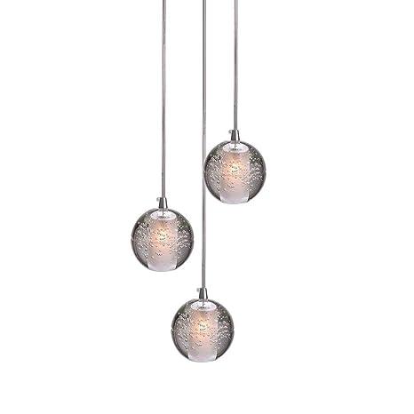 LED Cristal Bola Colgante de luz para Sala Loft Escalera ...