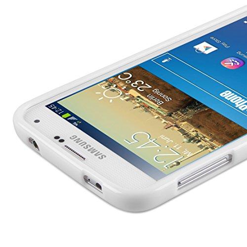 Diseño Samsung Galaxy S5 con carcasa de silicona de colour blanco