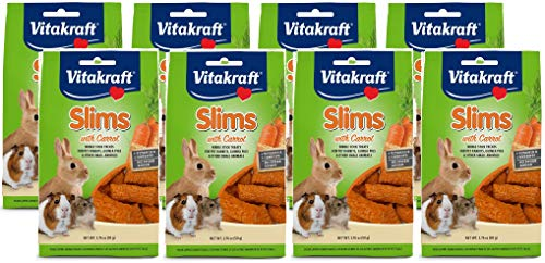 Vitakraft 8 Pack of Rabbit Slims with Carrot, 1.76 Ounces Each
