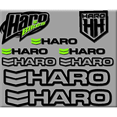 Ecoshirt DZ-QVCJ-UVLW HARO Bikes R200 Stickers Aufkleber Decals Autocollants Adesivi, Black: Automotive