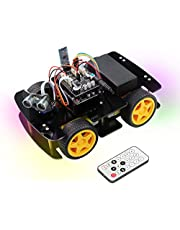 Freenove 4WD Car Kit (Compatible with Arduino), Robot Project, Line Tracking, Obstacle Avoidance, Ultrasonic Sensor, Bluetooth IR Wireless Remote Control