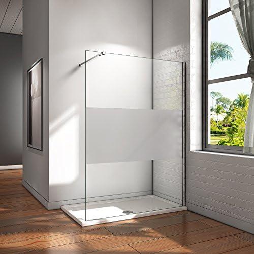 Pantalla Panel Fijo Cristal 8mm vidrio esmerilado Mate Parcial Mampara de Ducha Antical Barra 73-120cm - 120x200cm: Amazon.es: Bricolaje y herramientas