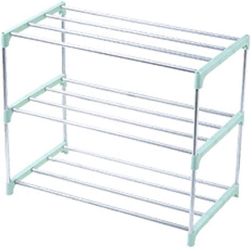3//4 Layers Stainless Steel Shoe Rack Storage Cabinet Shelf Holder Home Organizer Blue 3 Layers FRIDG Shoe Racks for Closets