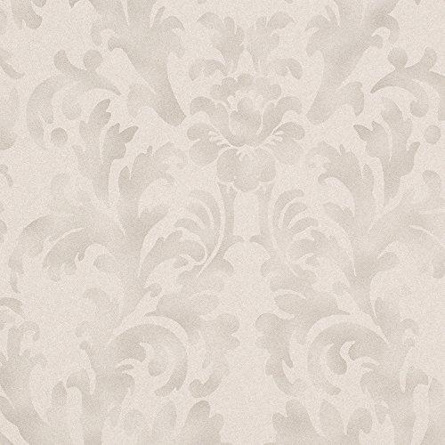 Romosa Wallcoverings Traditional Star Fade Gray / Dark Gray Faux Worn Damask Shabby Chic Wallpaper Roll Decor by Romosa Wallcoverings -