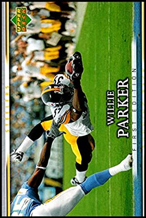 82de0855acc 2007 Upper Deck First Edition  77 Willie Parker NM-MT Pittsburgh Steelers  Official NFL
