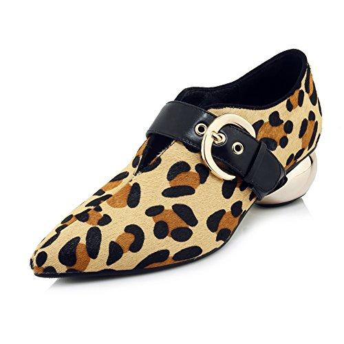 Plateforme Mode Hauts KJJDE Leopardprint Talons Leopard Soiree WSXY Club Talon 35 11 Femme Haut Fête Basique Mariage Escarpin aOqgnzw0O
