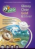 Tico SL4-3627 Etichette Satinate Argent, Ovali, 36 x 27, Confezione 100