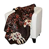 Denali Home Collection by Mont Double-Sided Reversible Throw, 60 by 70-Inch, Moose Blossom Taupe/Taupe