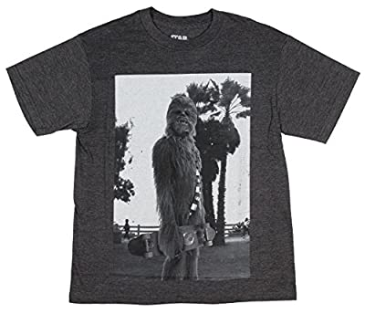 Star Wars Youth Boys' Chewbacca With Skateboard Heather T-Shirt