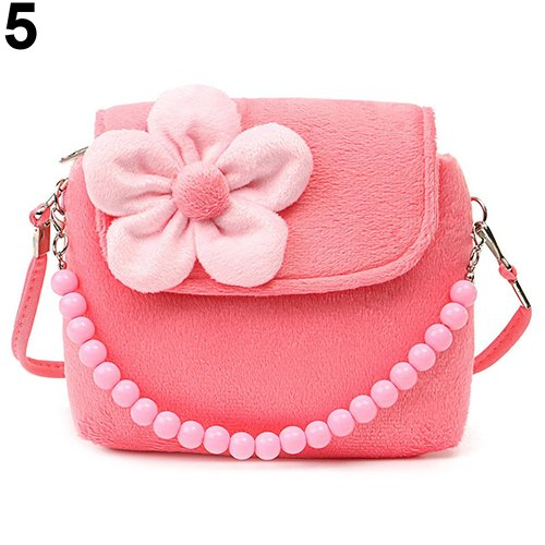 Watermelon Handbag Shoulder Kid Watermelon Children Red Beads Chain Red Girls Flower Princess Messenger Bag Bangle009 wgPUqvHw