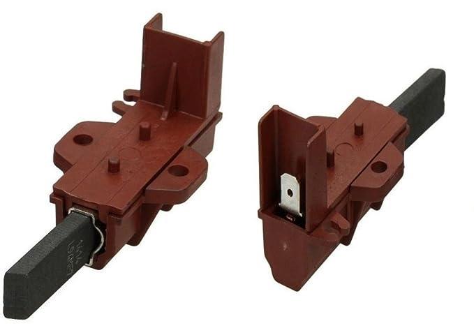 Spazzole Motore Lavatrice.1 Coppia Spazzole Con Carboncini Per Motore Lavatrice Ariston Indesit Originli