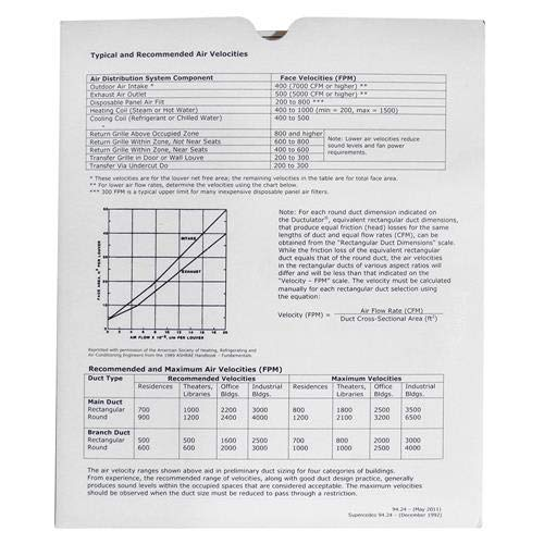 Air Duct Calculator / Ductulator with Sleeve - Buy Online in
