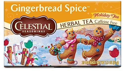 Celestial Seasonings Gingerbread Spice Herbal Tea, 20 Count (Pack of 6)
