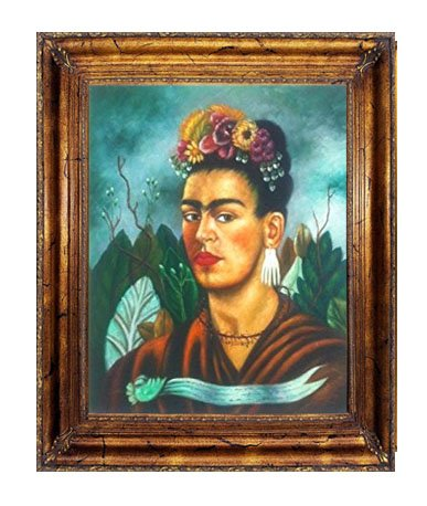 (ImpactInt 'Self Portrait', 1940 by Frida Kahlo Original Oil Painting Reproduction (27.5