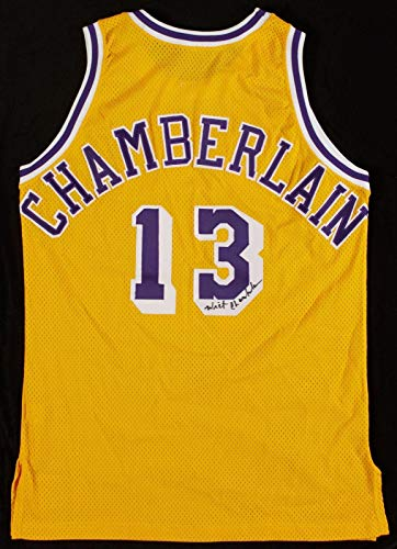 Wilt Chamberlain Signed 1992-93 Game Issued Los Angeles Lakers Jersey COA - JSA Certified - Autographed NBA (Chamberlain Jersey)