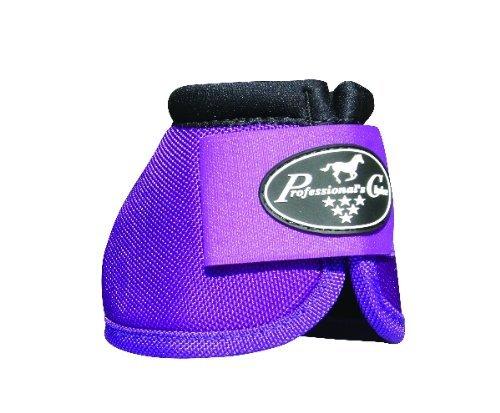 Professionals Choice Equine Ballistic Hoof Overreach Bell Boot, Pair (medium, Purple) ()