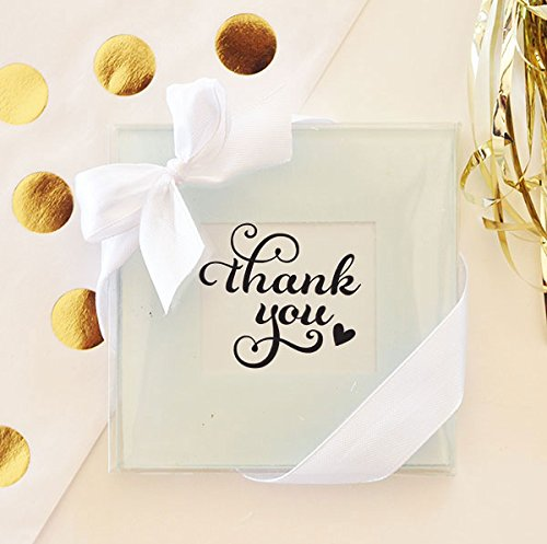 72 SETS of 2 Glass Photo / Place Card Holder Coasters by Eventblossom