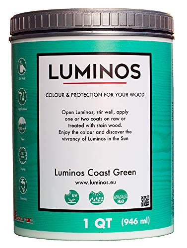 Luminos - Outdoor Wood Stain Finish Protector (1 QT, Coast Green) ()