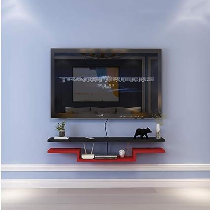 TV Rack Estante Flotante Estante de Pared Estante para Televisor Montado en la Pared Top para Televisor, Negro Rojo, 140 cm: Amazon.es: Deportes y aire libre