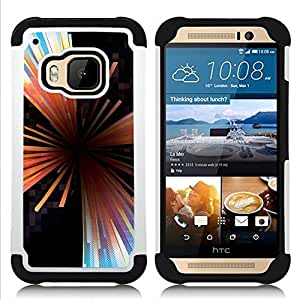 For HTC ONE M9 - vortex abstract lines black Dual Layer caso de Shell HUELGA Impacto pata de cabra con im??genes gr??ficas Steam - Funny Shop -