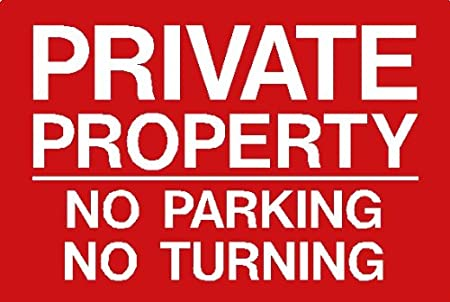 Vinyl back sticky Signs of Saltford Parking sign PRIVATE PROPERTY NO PARKING NO TURNING A4 200 x 300mm