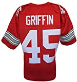 Archie Griffin Custom Red College Style Football Jersey Large