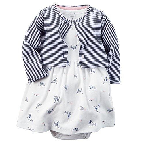 Carter's Baby Girls' 2 Piece Floral Dress Set (Carters Knit Set)